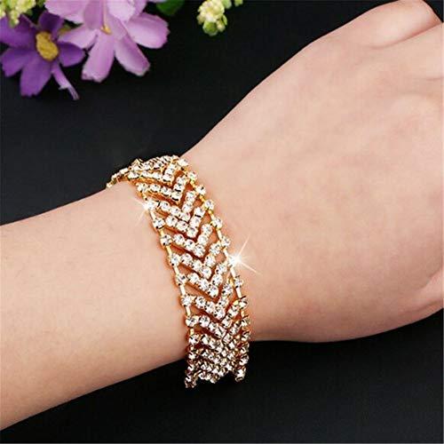 Fnito Armband 1 stücke Hohe Qualität Exquisite Design Kristall Shiny Strass Breite Armreifen Armband Für Frauen Schmuck armbänder Frau Geschenk