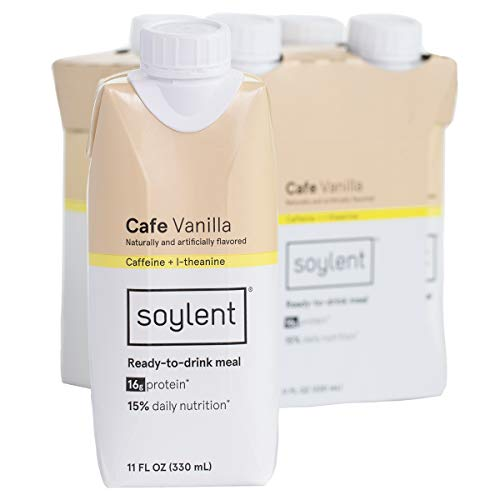 Soylent Meal Replacement Shake, Cafe Vanilla , 4-Pack Tetra