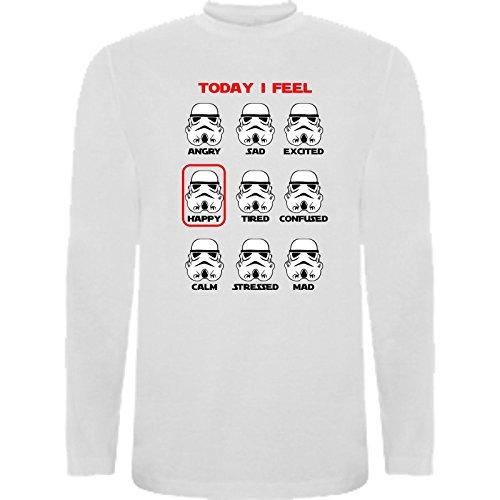 The Fan Tee Camiseta Manga Larga de NIÑOS Star Wars Dark Vader Han Solo Fuerza Kylo Ren Leia 7-8 Años