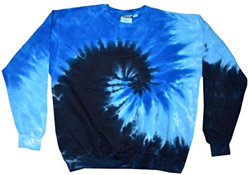 Colortone Tie Dye Sweatshirt SM Blue Ocean