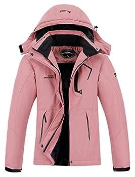 MOERDENG Women s Waterproof Ski Jacket Warm Winter Snow Coat Mountain Windbreaker Hooded Raincoat Jacket