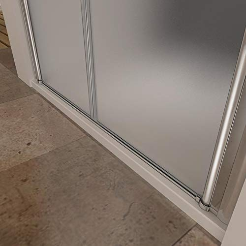 Mamparas Ducha Puerta Abatible Doble Cristal Mate Antical 6mm ...
