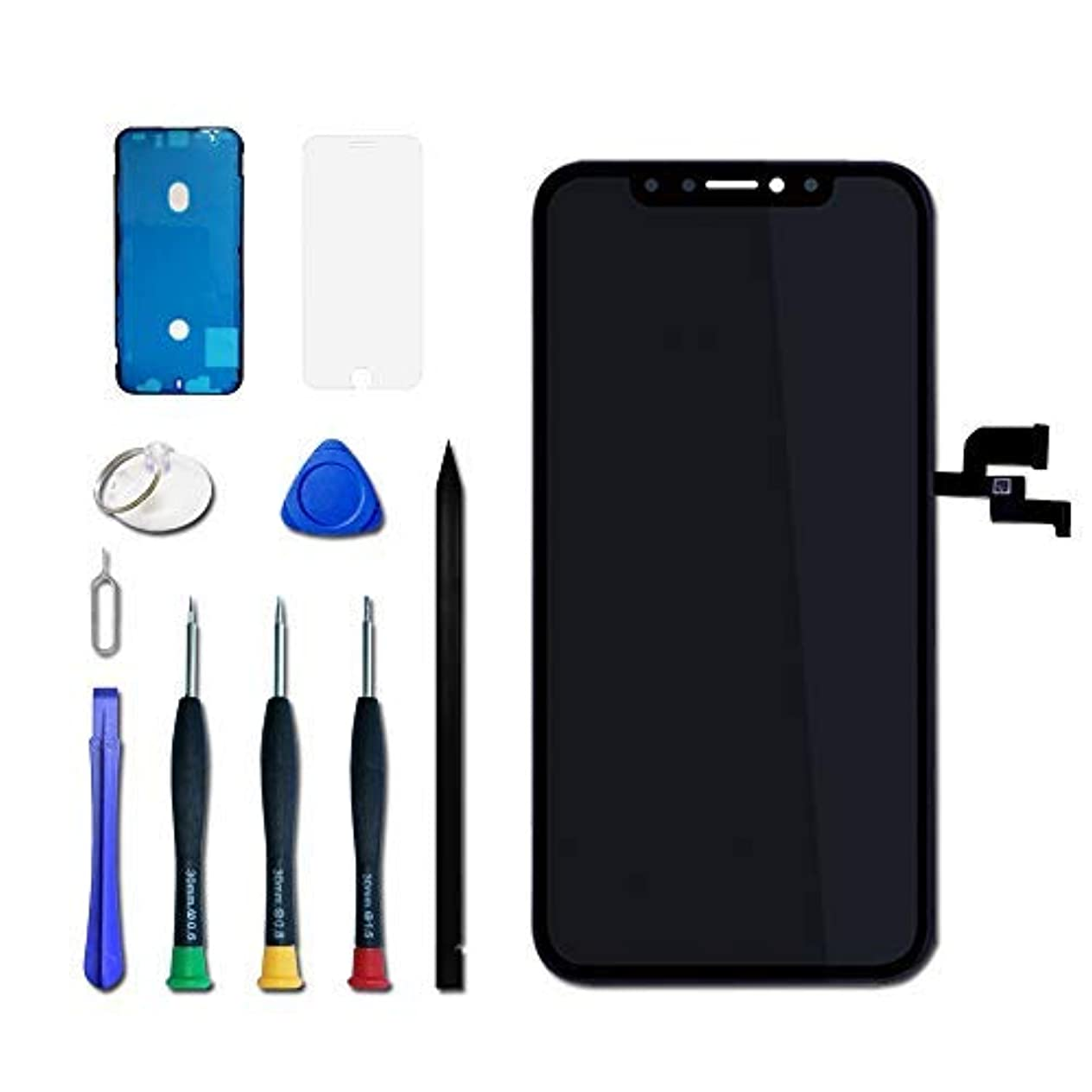 砂のフェンス義務的VANYUST for iPhone X フロント パネル 液晶 画面 OLED ガラス 交換 修理 画面割れ デジタイザ タッチ