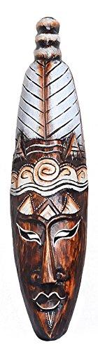 Wand-Maske Keno Man 50 cm,handgearbeitete Holz-Maske aus Bali, Wandmaske, Wand-Deko