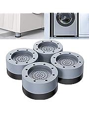 Supporto per lavatrice con cancellazione di urti e rumori, cuscinetti di alimentazione anti-vibrazione per lavatrice e asciugatrice da 3,5 cm per lavatrice e asciugatrice