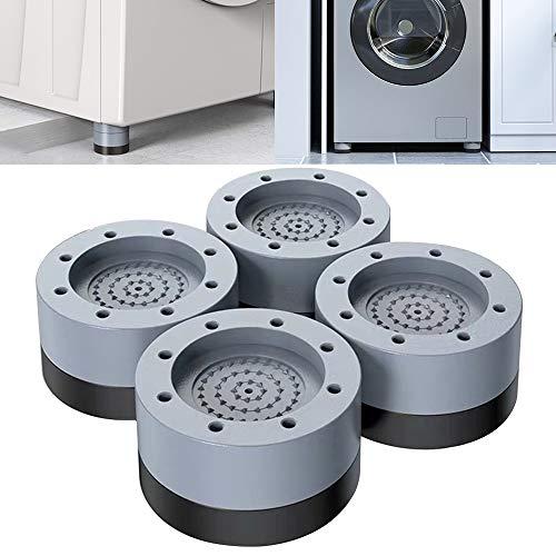 Almohadillas de alimentación antivibraciones para lavadora y secadora, estabilizador de lavadora de 4 piezas