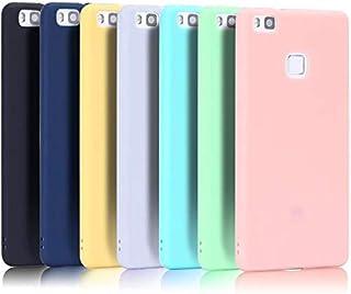 Caselover 7X Funda Huawei P9 Lite, Suave TPU Silicona Carcasa para Huawei P9 Lite Ultra Delgado Flexible Case Cover Bumper Goma Mate Opaco Protectiva Caso - 7 Color