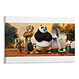 DRAGON VINES Kung Fu Panda 3Monkey Po Tigress Crane Master Viper Mantis Shifu - Lienzo decorativo (20 x 30 cm)