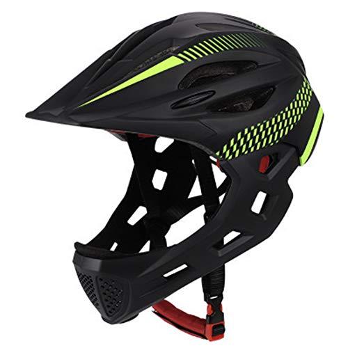 GCDN Fahrradhelm Kinder Fahrradhelm Vollgesichts-Sporthelm für Roller, Skateboard, atmungsaktiver Helm mit abnehmbarem Rücklicht für Kinder im Alter von 3-10 Jahren
