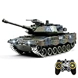 RC Tank That Shoot bb and Waterbomb, 1/18 Remote Control Army Military Tanks with Metal Track, 45MINS Playing Time, Spray Mists, 3D Stereo Remote Control Toys for Adults & Kids