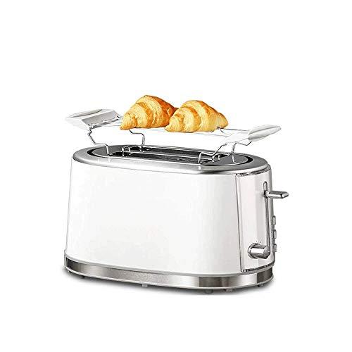 JYDQM Máquina for Hacer Pan - Tostadoras de Acero Inoxidable de 2 rebanadas, Bandeja extraíble for migajas Calentador for el Desayuno Muffins de Pan Hornos Tostadores con