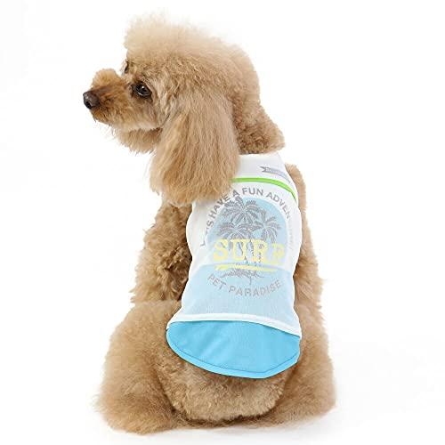 NEW 犬 服 夏 ポケットクール 保冷剤付き タンクトップ 椰子柄 ドッグウェア イヌ おしゃれ かわいい ひんやり 夏 涼感 冷却 吸水速乾 【SS】