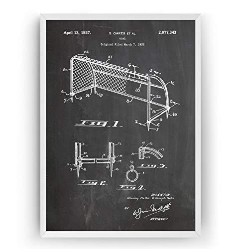 Football Goal 1937 Patent Poster - Soccer Fan Gift Merchandise Art Print Vintage Old Original Blueprint Retro Wall Decor - Frame Not Included