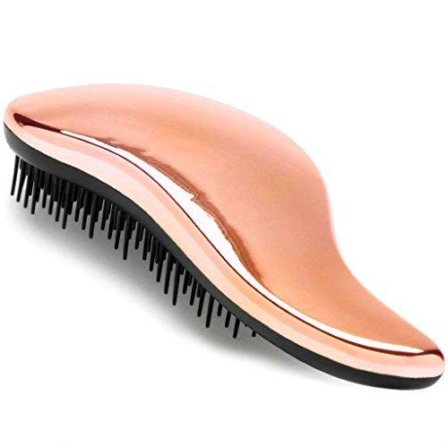 Detangling Hairbrush - Detangler Hair Brush for Women and Kids - Perfect for Wet/Dry/Fine/Thick Hair - Rose Gold