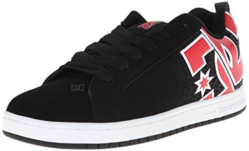 DC Shoes Court Graffik Se - Zapatillas de deporte para hombre, color negro (Black/Athletic Red/White), talla 43 EU (9 UK)