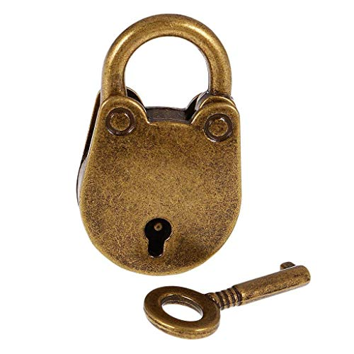 Vorhängeschloss Antik Vintage mit Schlüssel ca 38x27x7mm