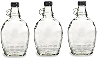 empty glass maple syrup bottles