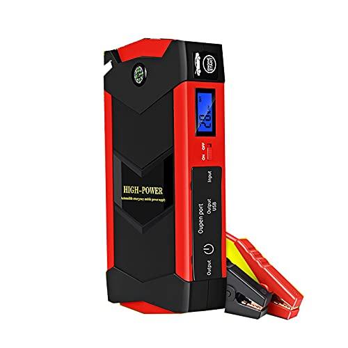 1000A 28000mAh Arrancador emergencia automóvil Amplificador batería emergencia Herramienta eléctrica portátil exteriores 6.0L Gasolina 5.0L Motor diésel Cargadores USB 12V LED ( Color : 18000mAH )