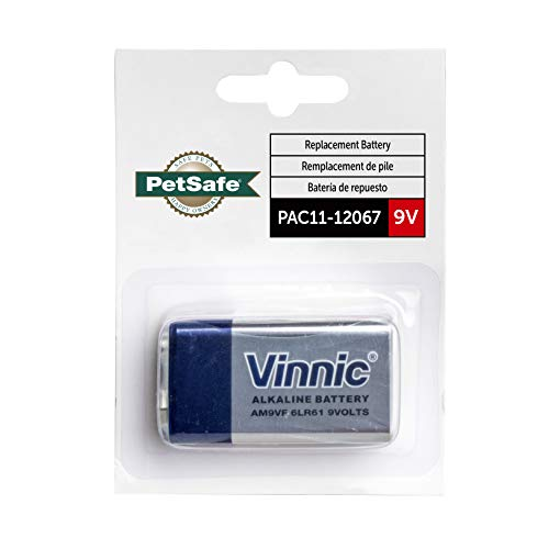 PetSafe 9 Volt Replacement Alkaline Battery - Compatible with PetSafe 9V Battery-Operated Products - PAC11-12067