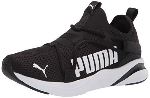 PUMA Men's 19451401 Running Shoe, Black White, 13