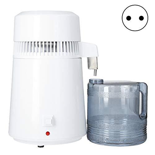 Nivvity Filtro de Agua Pura, Equipo de destilación de Agua, destilador de Agua de 4 l, máquina Multifuncional de destilación de Agua de Acero Inoxidable 304 para Oficina en casa(EU 220V)