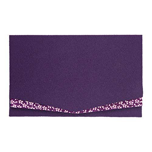コモライフ 慶弔事用ふくさ 紫色 男性 女性 サイズ/約20×12.2cm 結婚式 お葬式 慶事 弔事 日本製 袋 祝儀 香典