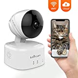 Caméra IP sans Fil 1080P HD, Caméra de Surveillance WiFi de Sécurité, Caméra IP de Intérieur avec Détection de Mouvement, Vision Nocturne, 2-Way-Audio pour Bébé/Aîné/Animal/Maison Moniteur