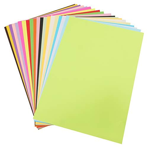100 Carta Colorata A4, Fogli Origami DIY 210x297mm, 70g Fogli Colorati Double Face,Carta Colorata 20 Colori Fogli Origami per Fare Origami DIY