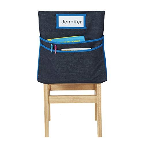 Ecr4kids Classroom Seat Companion With Name Tag Slot Kids School Supply Chair Pocket Organizer For Classroom Daycare Homeschool Standard Buy Online In India At Desertcart In Productid 28750156