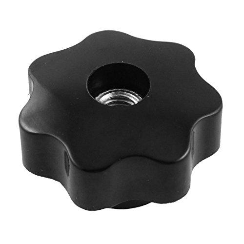 TOOGOO(R) Diametre 8mm Trou de filetage Noire etoile Tete Serrage Bouton remplacement