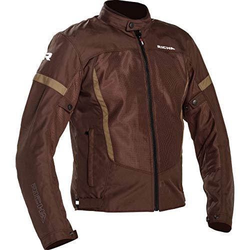 Richa Motorradjacke mit Protektoren Motorrad Jacke Airbender Textiljacke braun 6XL, Herren, Tourer, Ganzjährig