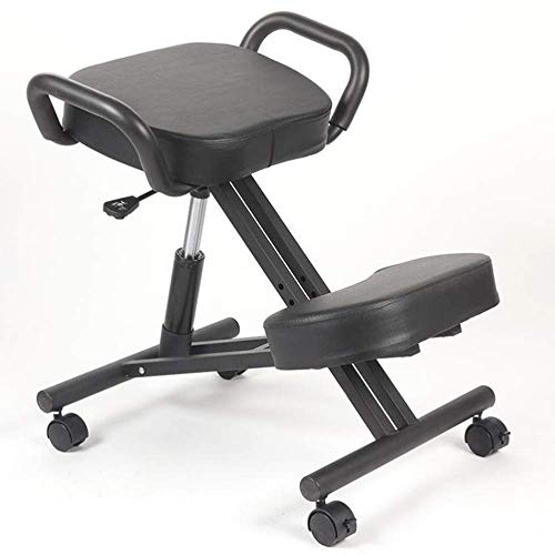YAMMY Ergonomic design chair Corrective sitting chair Height adjustable with comfort mat Can move wheelchair study chair Computer chair (Color: blue)