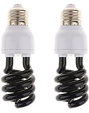 E27 UV blacklight gloeilamp ultraviolette lamp 220 V, set van 2 - spiraal type - 15 W