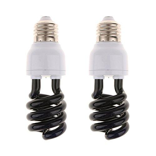 2er Pack E27 UV Lampe Glühbirne Glühlampe Schwarzlicht Lampe Licht - Spiral Typ - 15W