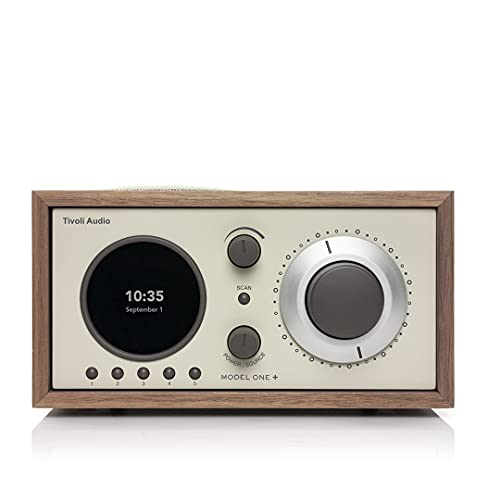 Tivoli Audio Model One+ FM/DAB+ Radio mit Bluetooth und Fernbedienung, Walnuss/beige