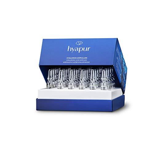 hyapur® Hyaluron Ampullen 30x2ml mit hochkonzentrierter Hyaluronsäure für praller und straffer aussehende Haut, für Gesicht, Hals und Dekolleté