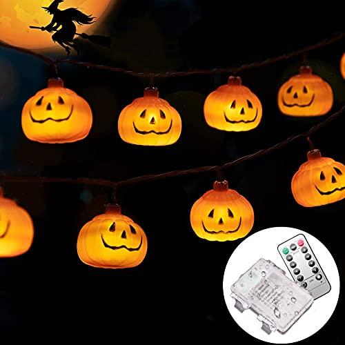 GOKEI 【30球 4.5M】 ハロウィン 飾り LED カボチャ ハロウィン かぼちゃ ライト LED装飾 発売 電池式 点灯パターン8種類 Halloween おばけ パンプキン ハロウィングッズ 装飾 ストリングライト ランタン 吊り下げ イルミネーション