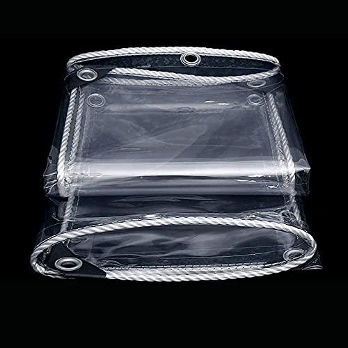 SACKDERTY Lona Impermeable Lona de plástico de PVC Transparente con Ojales de Metal Marquesinas a Prueba de Lluvia Flor Planta Hoja Cubierta Protectora Cubierta Plegable 650 g/m² / 0.55 mm