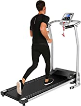 Aceshin Treadmill for Walking, Folding Treadmills for Small Spaces, Motorized Fitness Compact Running Equipment with LCD for Home (Silver)