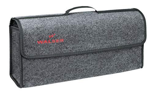 CarComfort große Kofferraum Auto KFZ Tasche XXL grau mit Klettverschluss+Druckknöpfen 21x57x16 cm, Werkzeugtasche, Auto Organizer