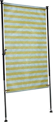 Angerer Balkon Sichtschutz Blockstreifen gelb-weiß, 120 cm breit, 2318/1002