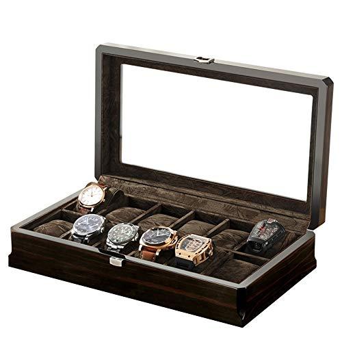 AMAFS ? 12 Cajas de Almacenamiento de exhibición de joyería de Reloj Caja de Caja Organizadores de Pulsera Cajas de presentación con Soportes de Almohada