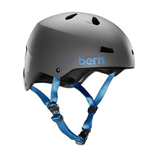 Bern - Casco para Bicicleta Adulto. Multideporte (Skate, Patinaje, Ciclismo Urbano)–Modelo: Macon Gris. Talla XL