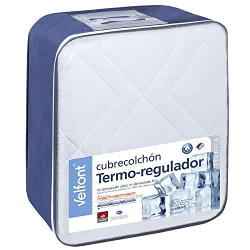 Nuevo Cubrecolchón Termo-regulador Outlast Algodón de Velfont (Cama 150). Nuevo Modelo con Tejido Rejilla, más eficiente.