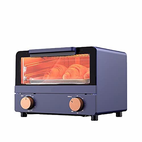 ZXAOYUAN Mini Horno eléctrico, Máquina de Desayuno multifunción, Horno eléctrico portátil, tostadora, Pizza y Horno de Pastel, Horno Compacto para calefacción de Alimentos y cocción de Alimentos crud