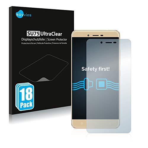 Savvies 18x Schutzfolie kompatibel mit BLU Vivo XL 2 Bildschirmschutz-Folie Ultra-transparent
