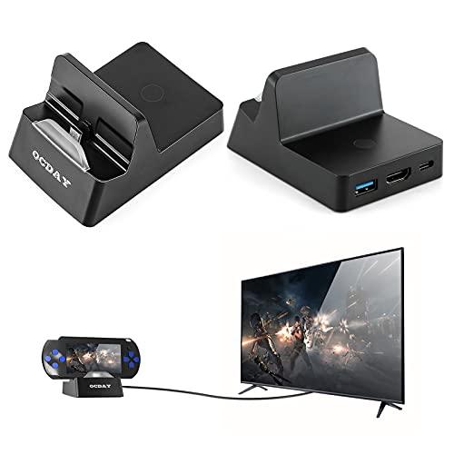 Switch Dock für Nintendo Switch Dock, OCDAY Erweiterung USB C Ladestation Dockingstation mit HDMI Kabel Schnittstelle mit USB 3.0 und Thunderbolt 3 Port, verbinden Sie Handy mit TV