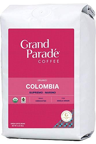 Grand Parade Coffee, 5 LB Unroasted Green Coffee Beans - Organic Colombia Narino Supremo - Women Produced Single Origin - High Altitude Specialty Arabica - Low Acid - Fair Trade - Fresh Raw Coffee