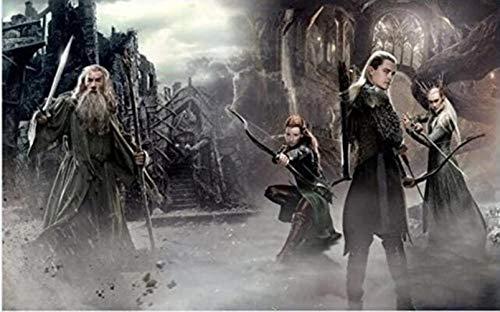 Perlas 5D Fai Da Te Diamante Pieno Dipinto Punto Croce Film Lord Of The Rings Trilogia Personaggio, Kit Ricamo Diamante