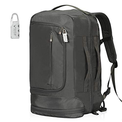 Hynes Eagle Reise-Rucksack, 42 l, Anti-Diebstahl-Handgepäck-Rucksack mit RFID-blockierender Tasche., grau (Grau) - HE0917-2N